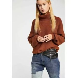 Free People Softly Structured Sweater Turtleneck